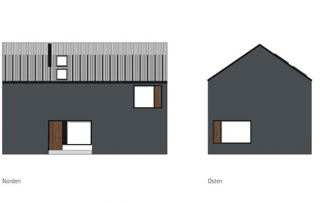 Haus mit Kern Bebauungsvorschlag